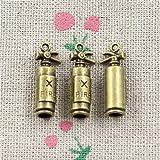 LKJHG 15PiezasChapado en Bronce Antiguo Colgante de amuletos de aleación de Zinc extintor de Incendios Amuletohallazgos Accesorios Piezas