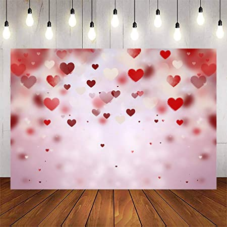 7x10 FT Vinyl Photography Backdrop,Love Valentines Themed Nested Rainbow Heart with a Simplistic Vibrant Work of Art Background for Graduation Prom Dance Decor Photo Booth Studio Prop Banner