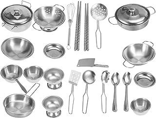 comprar comparacion Utensilios de Cocina para niños Juguetes, Utensilios de Cocina Utensilios de Cocina de Acero Inoxidable Utensilios de Coci...