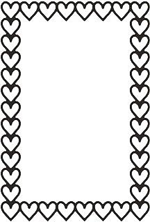 Vaessen Creative Matrice de Découpe, Rectangle de Coeurs, Crée des Motifs Complexes pour Le Scrapbooking, la Fabrication d...