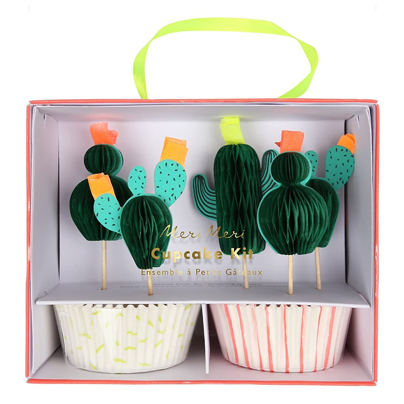 Meri Meri, Cactus, Cupcake Kit - Pack of 24