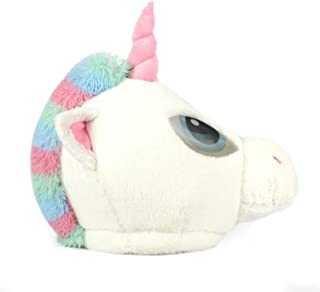 Oversized Plush Unicorn Costume Mask Pastel Colors