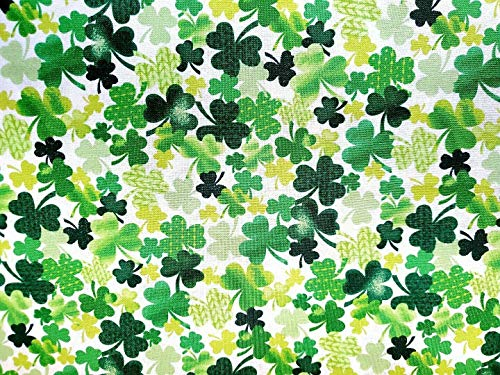 Lucky Guy Shamrocks Cotton Fabric St. Patrick's Day Timeless Treasures by The Yard
