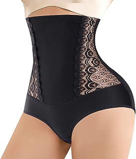 Nebility Waist Trainer for Women Butt Lifter Shapewear High Waist Tummy Control Panty Lace Body Shaper Shorts