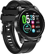 Smart horloge, fitness tracker met slaapmonitor, Ip68 waterdichte activiteit tracker, ondersteuning calorie teller-zwart
