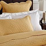 Calla Angel Sage Garden Luxury Pure Cotton Quilted Pillow Sham, Standard, 20x26, Gold...