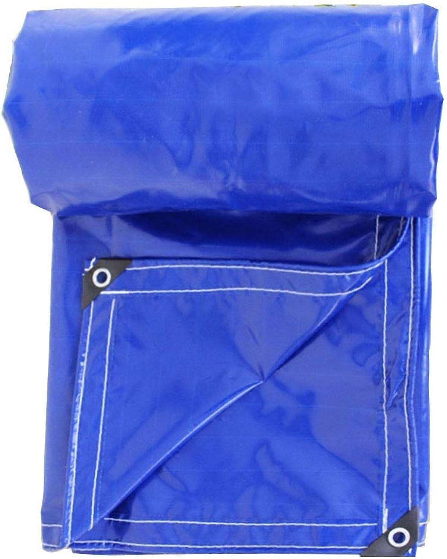 Tarpaulin, Sheet Heavy Duty Waterproof Outdoor Shade Metal Buttonhole Polyethylene, MultiSize GAOFENG (color   blueee, Size   2x3M)