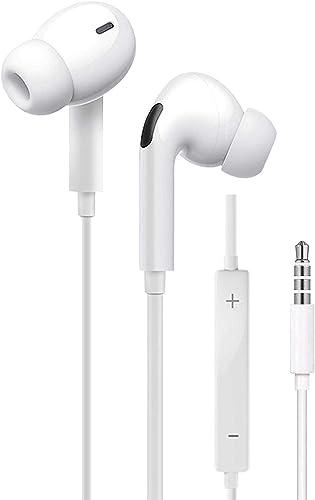 [2 Pack] Écouteurs Intra-Auriculaires, Casque Filaire 3,5 mm, Anti-Bruit Casque et écouteurs Ergonomique Stéréo avec ...