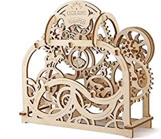 Ugears - Theatre - 70 Parts - 3D Wooden Puzzle - Mechanical Model - Ugr-70002, 8.4 x 7.4 x 3 Inches Brown