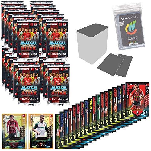 CAGO Topps Match Attax - 2019/20 - Alle 18 Nationalspieler+15 Booster(5 Karten)+LE8+LE9+50verschiedene Karten+Hüllen