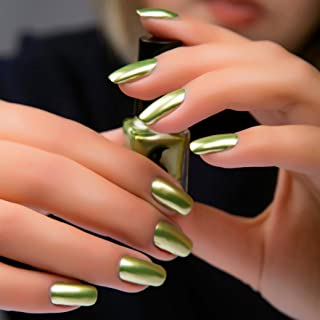 Mingfa.y Mirror Metallic Spell Additive Effect Pigment Nail Polish (Yellow : 6 Colours)