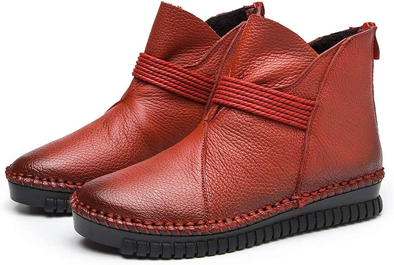 Btrada Women's Ankle Boots Women Waterproof Antiskid Rubber shoes Fashion Zipper Comfort Casual Booties