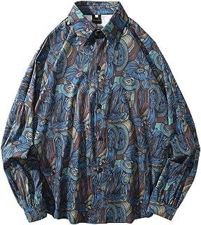シャツ メンズ 花柄 和柄 カジュアルシャツ カジュアル シンプル オシャレ 春夏秋 対応