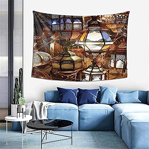 N-X Lámparas y linternas árabes Souk Tapiz de Cultura Nocturna para Dormitorio Sala de Estar Dormitorio Decorativo 60x40 Pulgadas