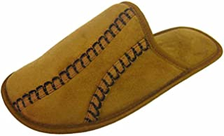 Coolers Mens Stitch Detailed Microsuede Mule Slippers