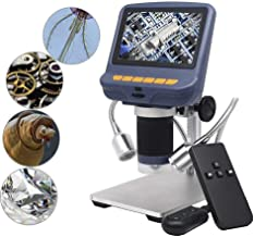 Andonstar 4.3 Inch 1080P LCD Digital USB Microscope with 10X-220X Magnification Zoom, 8 LED Adjustable Light, Camera Video Recorder for Phone Repair Soldering Tool Jewelry Appraisal Biologic
