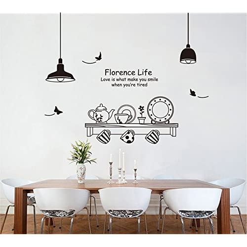 UfengkeR Personalized Tableware Pot Cup And Saucer Wall Decals Stickers Murals For Kitchen
