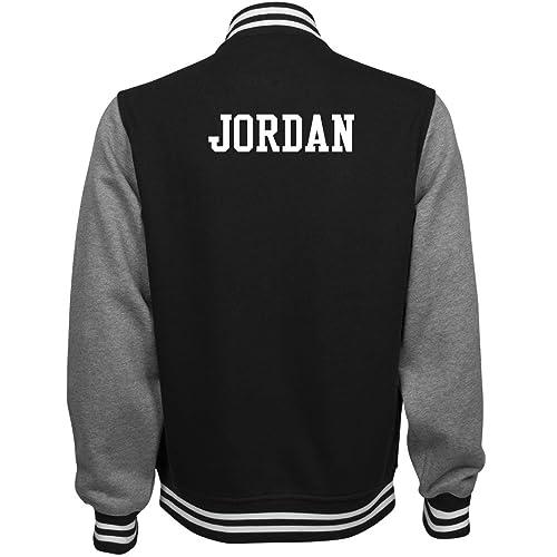 08338255659f2c ORG Jordan Comfy Sports Fan Gear  Unisex Fleece Letterman Varsity Jacket