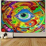 Tapiz de seta de cráneo colorido de dibujos animados tapiz de arte de cráneo mágico sala de estar decoración del hogar tela de fondo A17 150x200cm
