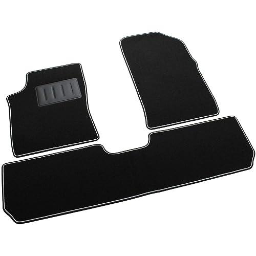 Il Tappeto Auto, SPRINT00611 - Alfombrillas de moqueta para Coche, Color Negro, Antideslizantes