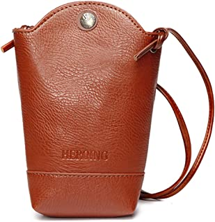 JOSEKO Woman Irregular Little Phone Bag Casual PU Crossbody Bag Bucket Bag