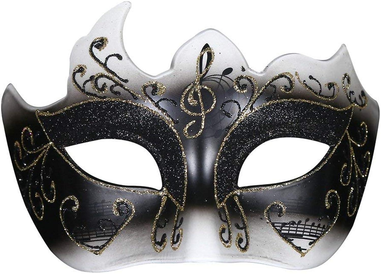 Zicue Humgoldus Mask Masquerade Prom Mask Halloween Masquerade Mask gold Powder Polygon Adult Girl Party Mask Half Face Princess Venice Mask. (color   White) ( color   Black )
