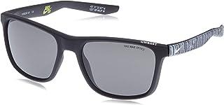 Nike Men's Rectangular Grey Plastic Sunglasses NKUNRESTSE, 410 57-19-145mm
