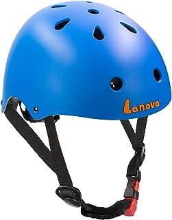 LANOVAGEAR Toddler Kids Helmet Adjustable CPSC Certified Helmet Impact Resistance Ventilation for Multi-Sports Cycling Scooter Skateboarding