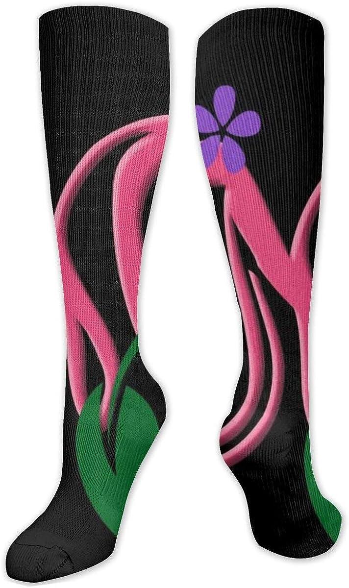 Letter M Knee High Socks Leg Warmer Dresses Long Boot Stockings For Womens Cosplay Daily Wear