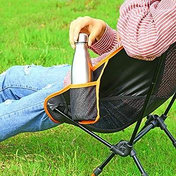 Chaise de Camping, Sportneer Portable Léger Pliable Camping Chaise pour Backpacking/Randonnée/Pique-Nique/Pêche/Plage/Jardin (Charge de Poids 158kg)