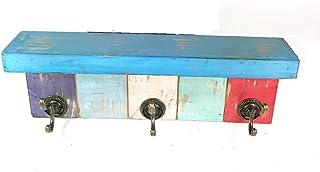 Deco 79 55587 Wood & Metal Hockey Wall Hook