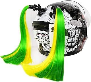 3T-SISTER rabos para capacetes, funciona em capacetes foscos, decoração de cabelo para motocicletas, bicicletas, 2 peças d...