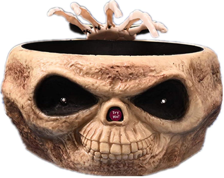 QWhing Festival-Maske Halloween Horror Requisiten Voice-Activated Skeleton Ghost Hand Obstteller Bar KVT Party Dekoration Szene Dekorieren Waren, Gelb Kostüm Maske B07Q2SGNS3 Kunde zuerst  | Attraktives Aussehen