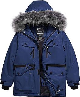 Wantdo Boy`s Waterproof Ski Jacket Windproof Warm Winter Coat Outdoor Raincoat