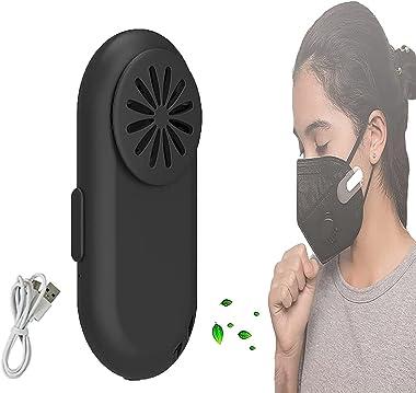 QIRU 2021 Personal Air Purifier Wearable Air Purifier Mask Clip Wearable Air Purifier Breathe Cooler,Portable USB Charging Mu