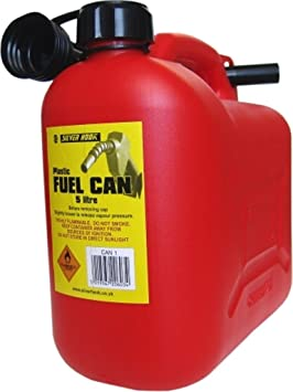 S Style CAN1 Leaded Petrol Can and Spout Red 5 Litre: image