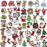Adesivi non ripetitivi serie natalizia: tra cui Babbo Natale, un albero di Natale, un calzino di Natale, un pupazzo di neve, un fiocco di neve, una campana Dimensioni: circa 5 cm MATERIALE: adesivi natalizi in PVC, impermeabili. Nessun adesivo di col...