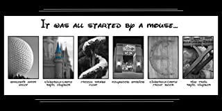 It Was All Started by a Mouse - Walt Disney World Artwork - 10 x 20 - DISNEY images that resemble letters of the alphabet.