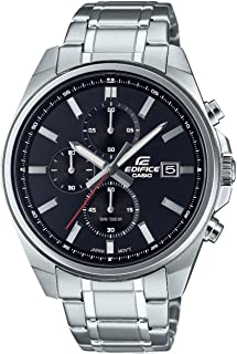 CASIO Edifice Stainless Steel Band Chronograph Analog Watch for Women - Silver