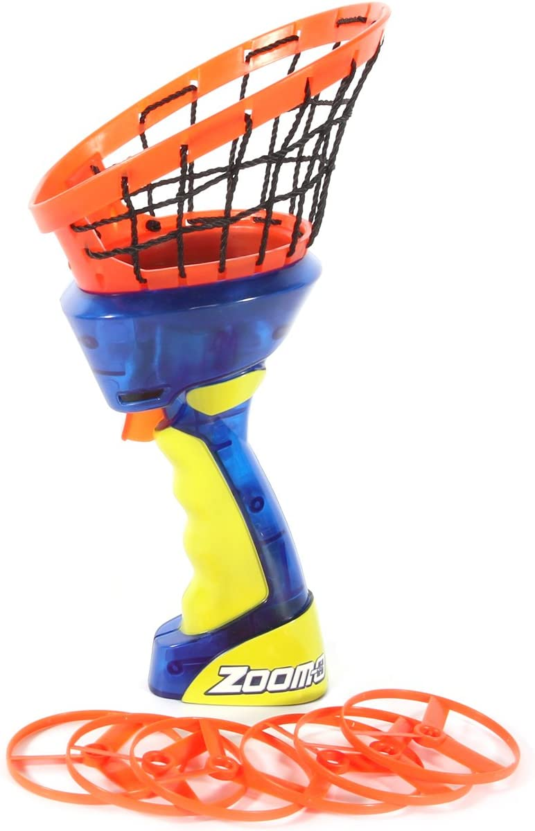 Zoom-O Flying Disc Challenge the lowest price of Japan ☆ Launcher Free Shipping New w Net and Plasti Catch Shoot