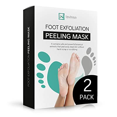 LV LAVINSO Foot Peel Mask 2 Pack, Peeling Away Calluses