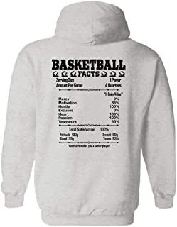 On Yellow Basketball Facts Pullover Hoodies, Long Sleeve Hoodie