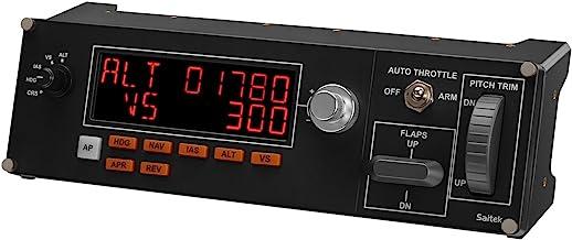 Painel de Controle de Piloto Automático para Simulação Profissional de Voo Flight Multi Panel, Logitech G, Joysticks e Con...