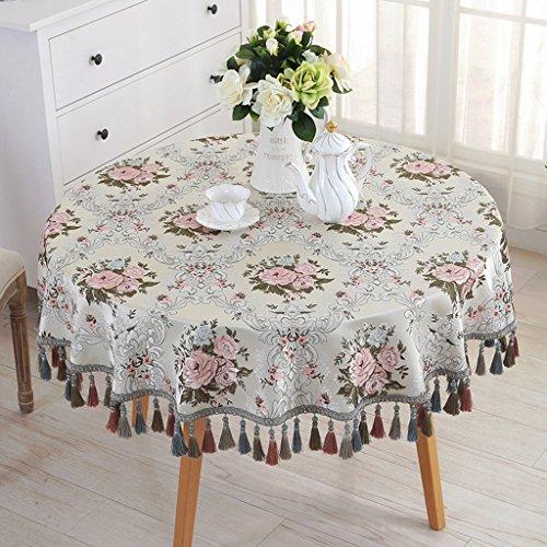 Nappe européenne Nappe Ronde Européenne Grande Table Ronde Tissu Nappe de Maison Salon Table Basse Table Tissu (Couleur : A, taille : Round-120cm)