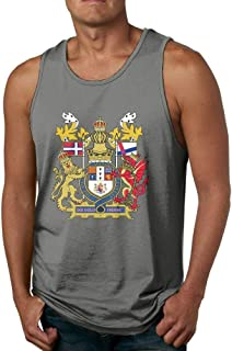 yimo Mens 3D Printed State Arms of Lovely Sport Styling Cotton Sleeveless T-Shirts