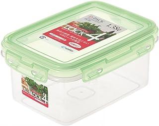 サンコープラスチック 日本製 密閉 保存容器 Dパック ロック4 DL-7d グリーン