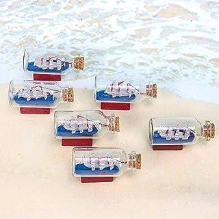 Annfly Lot de 6 mini flacons en verre pour la fabrication de bijoux, perles, loisirs créatifs, décoration (50 ml)