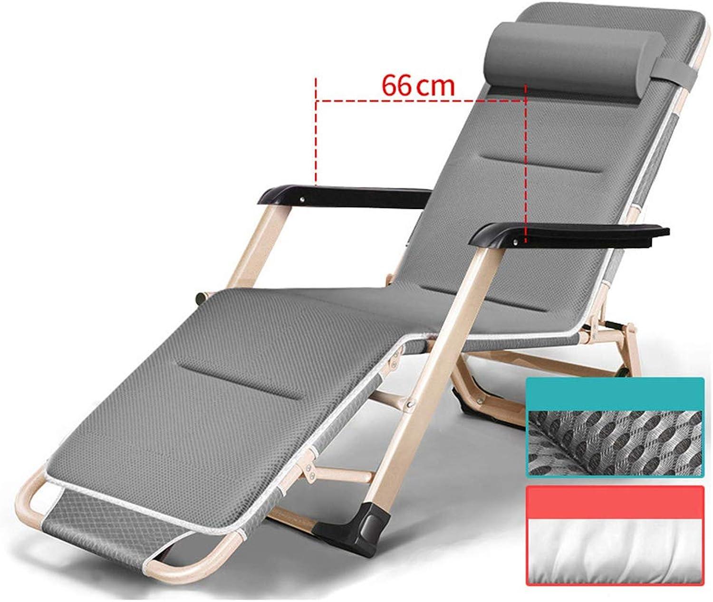 Groer Gartenliege klappbar, Extra breiter tragbarer Liegestuhl Schwerelosigkeit Stuhl Für das Strandbüro im Innenhof Teslin Stoff
