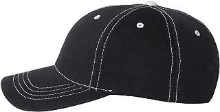 6386 - Contrast Color Stitched Cap