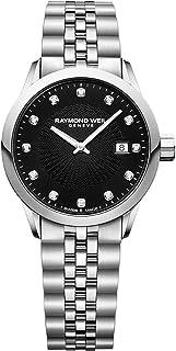 Raymond Weil - Freelancer Diamond Black Dial Ladies Watch 5629-ST-20081